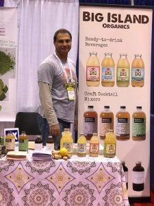 Big Island Organics booth at expo
