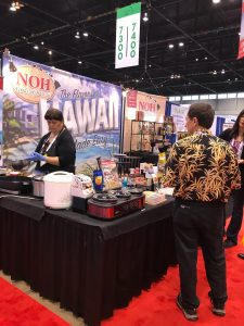 Noh foods booth at expo