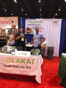 Olakai sea foods booth at expo