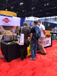 Sun Noodle foods booth at expo