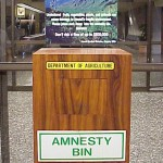 Amnesty bin at the Honolulu Airport