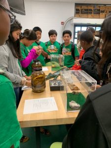 Plant Quarantine Education Specialist Kent Dumlao and inspector Shelby Ching hoped to inspire students to pursue careers in agriculture at the Ewa Makai Middle School Career Fair on Feb. 22, 2019. pic 4