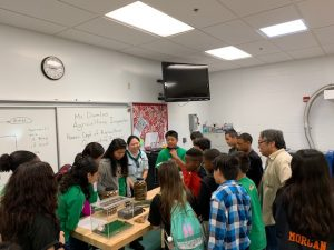 Plant Quarantine Education Specialist Kent Dumlao and inspector Shelby Ching hoped to inspire students to pursue careers in agriculture at the Ewa Makai Middle School Career Fair on Feb. 22, 2019. pic 2