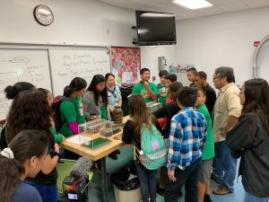 Plant Quarantine Education Specialist Kent Dumlao and inspector Shelby Ching hoped to inspire students to pursue careers in agriculture at the Ewa Makai Middle School Career Fair on Feb. 22, 2019. pic 3