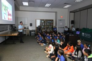 PQ Inspector Kent Dumlao shows a visual presentation to the class