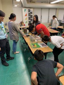 Inspector Jessie Tibayan at Mai`li Elementary School Career Fair