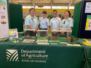 mobile inspection table where people could have the plants they purchased certified to go to neighbor islands or mainland