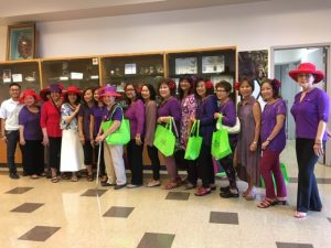 roup of lovely ladies from the Red Hat Society visited the Plant Quarantine Office at Sand Island pic 3