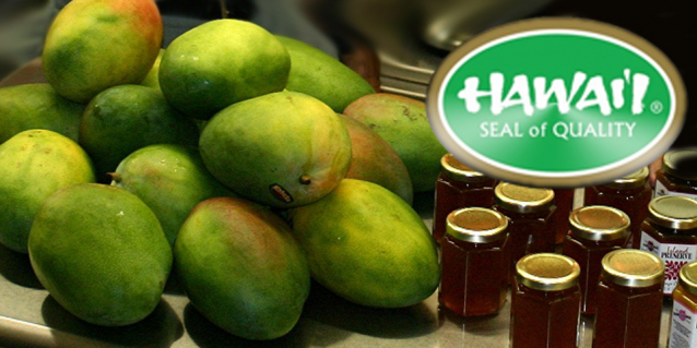 hawaii grown products such as papaya and the Made in Hawaii seal